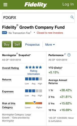 FDGRX - Fidelity ® Growth Company Fund  Fidelity Investments