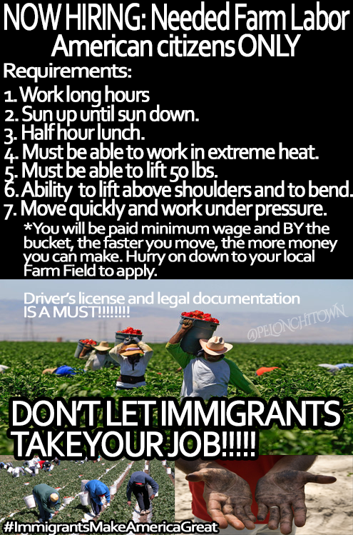 Farm Labor Needed  Only American Citizens Can Apply - Real