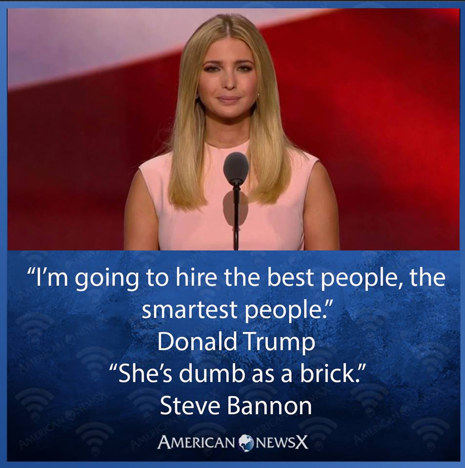 Ivanka, dumb as a rock