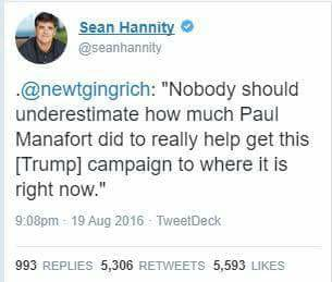 Sean Hannity's open mouth